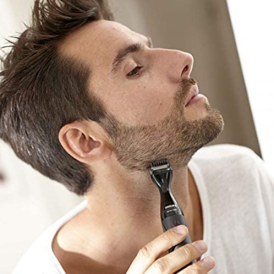 Philips Multigroom Series 1000 Ultra Precise Beard Styler with DualCut Technology for Men MG1100