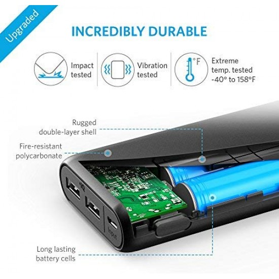 Power Bank Anker PowerCore 20100mAh - Ultra High Capacity Portable Charger with 4.8A Output and PowerIQ Technology