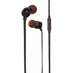 JBL T110 Wired Universal In-Ear Headphone with Remote Control and Microphone - Black