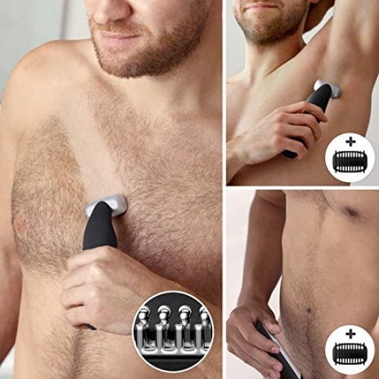 Philips Series 5000 Showerproof Body Groomer with Back Attachment and Skin Comfort System