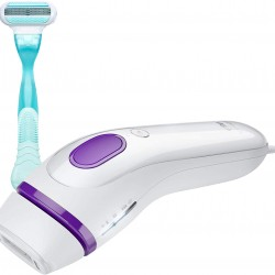 Braun Silk expert 3 IPL BD 3001 – Permanent visible hair removal at home for body & face, Gillette Venus razor