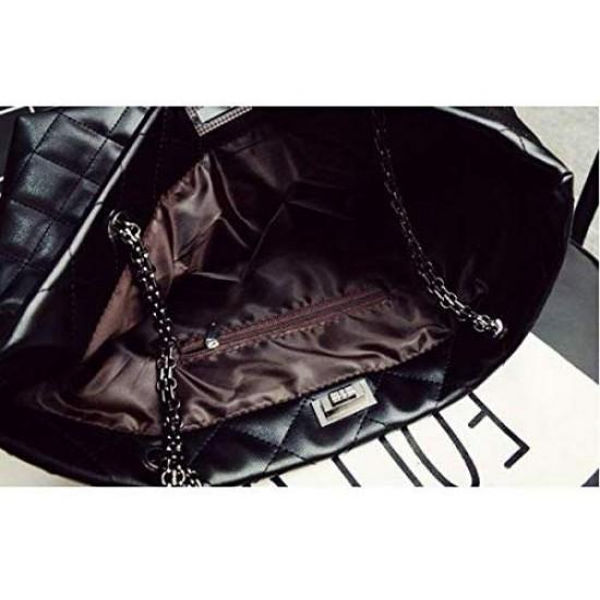 Women leather handBag ling plaid weave shoulder bag popular women messenger Bag casual women bag