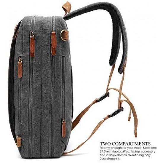 CoolBELL Convertible Backpack Shoulder Bag Messenger Bag Laptop Case Business Briefcase Leisure Handbag