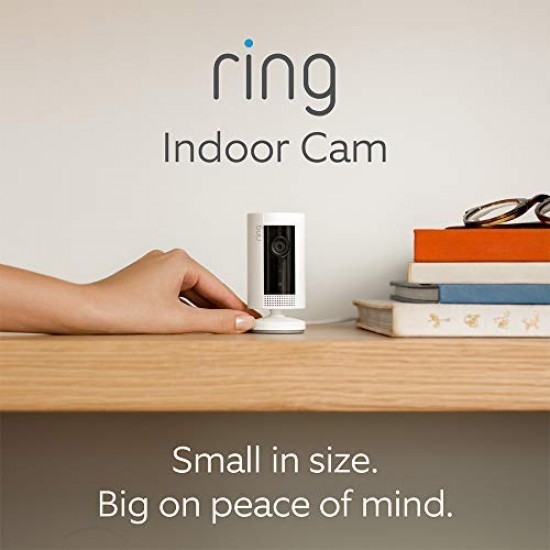 All-new Ring Indoor Cam | Compact Plug-In HD security camera with Two-Way Talk, White