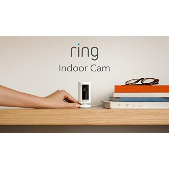 All-new Ring Indoor Cam   Compact Plug-In HD security camera with Two-Way Talk, White
