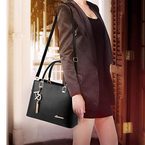 Fashion Women Top-Handle Handbags,PU Leather Stylish Large Capacity Personalized Designer Tote Handbags