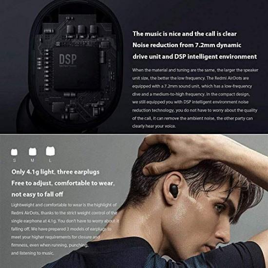 Xiaomi Mi True Wireless Earbuds  Basic TWSEJ04LS, Airdots Bluetooth 5.0 (Global Version) - Black