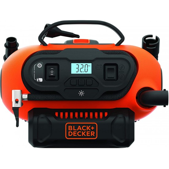 Black+Decker Multi Purpose Inflator, BDCINF18N-GB