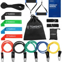 Fanryy Resistance Bands,17Pcs Resistance Bands Set Workout Fintess Exercise Rehab Bands Loop Bands Tube Bands Door Anchor Ankle Straps Cushioned Handles with Carry Bags for Home Gym Travel