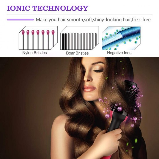 EASY LIFE Hair Brush Dryer Volumizer Tourmaline Ceramic Blow Dryer Hair Dryer for All Hair Types
