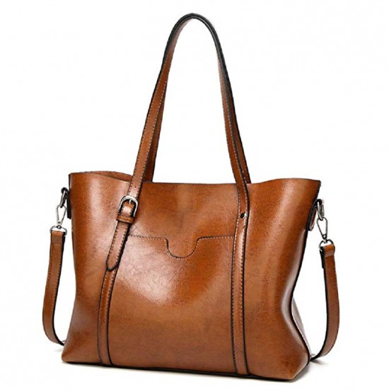 Women PU Leather Tote Bag