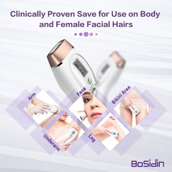 Bosidin Permanent IPL Hair Removal Device for Women & Men  Home Use