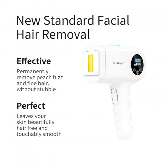 BoSidin Painless Permanent Hair Removal for Women & Men - Face, Chin, Lip, Bikini and Body Use