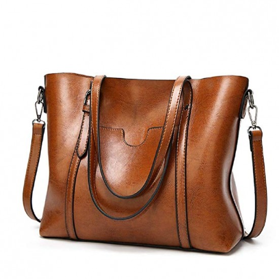 Women PU Leather Tote Bag